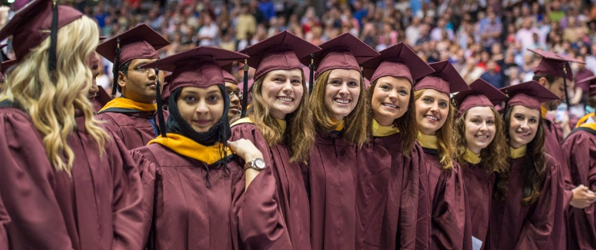 SIU Students at Commencement